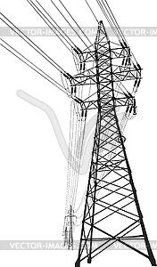 High voltage clip art.