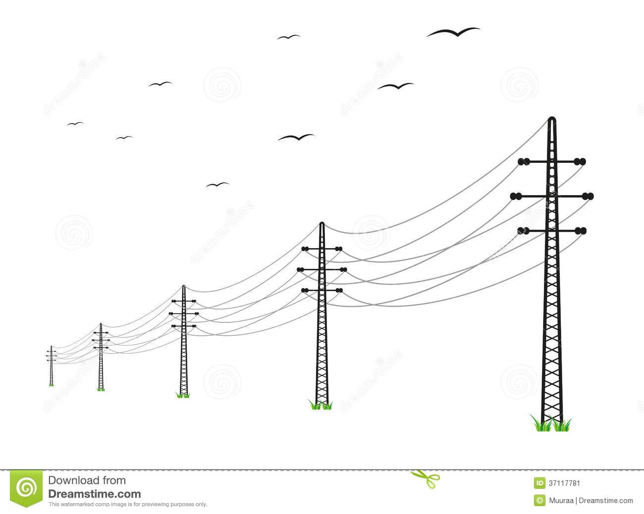 Power lines clip art.