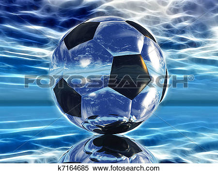 Stock Illustration of Soccer ball with electrically charged.