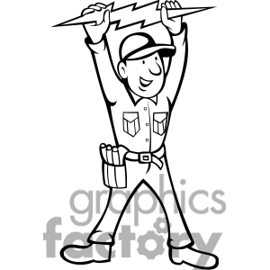 Electrician clipart black and white 2 » Clipart Station.