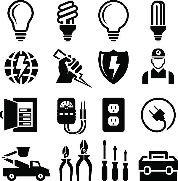 Best Electrician Illustrations, Royalty.