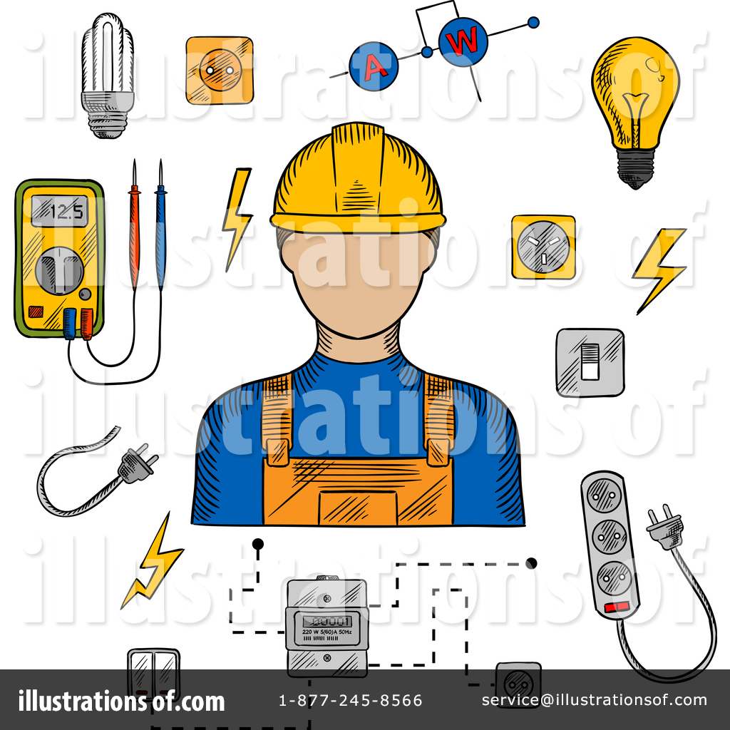 Electrician Clipart #1380835.