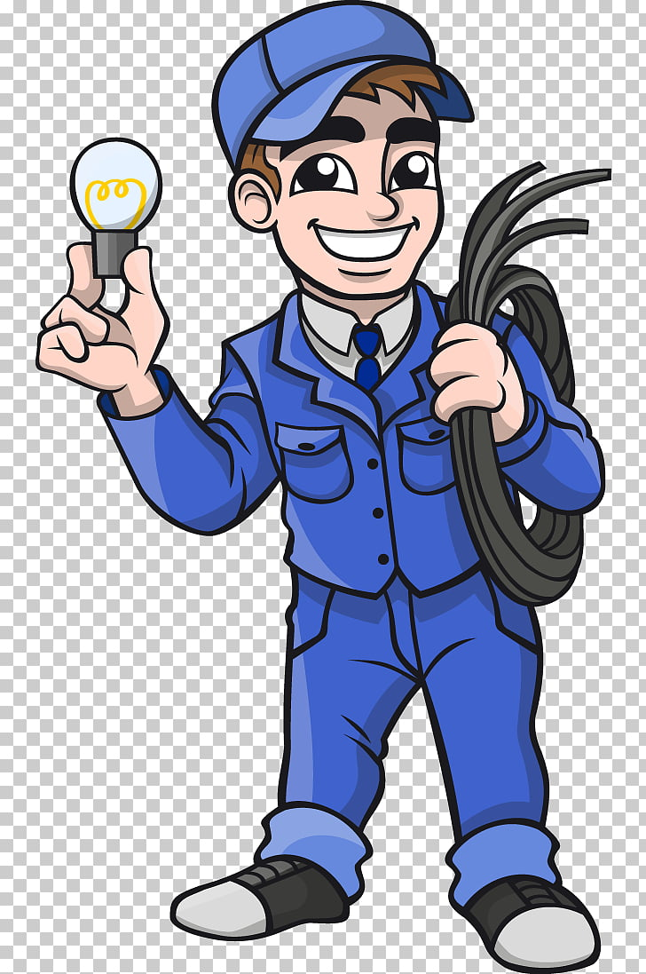 Electricista electricista, control de plagas hombre PNG.