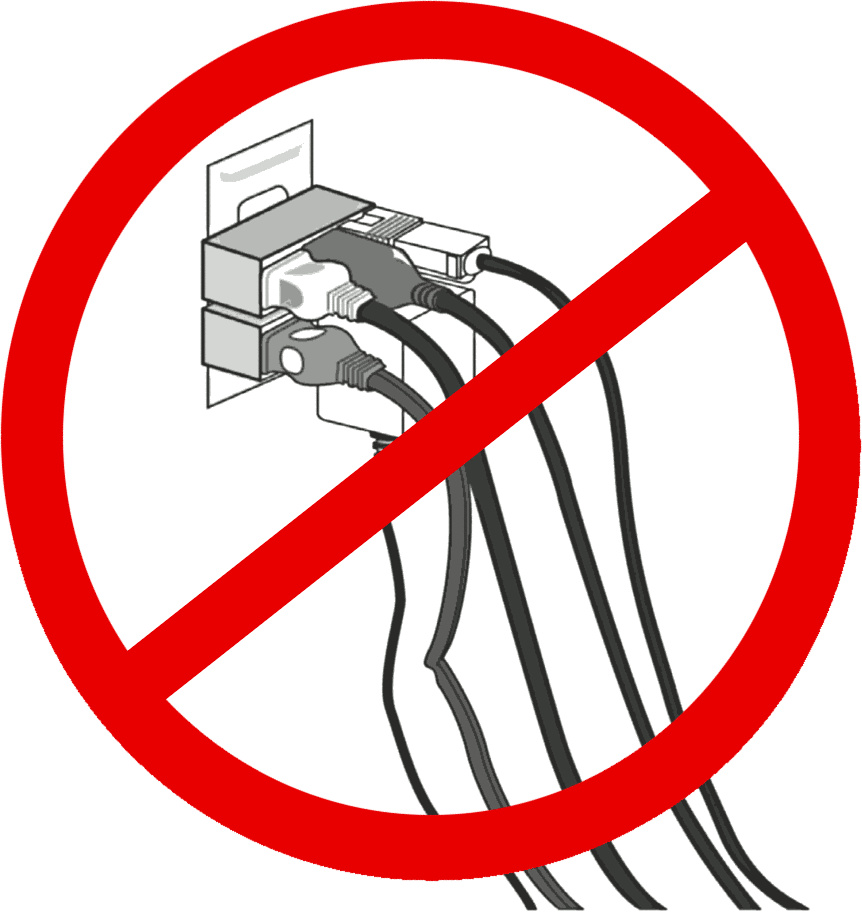 Dangers of electricity clipart.