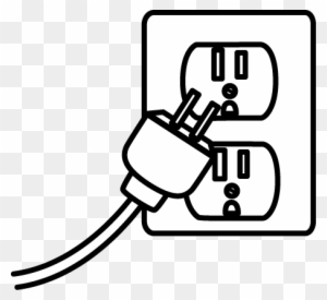 Image Of Electrical Clipart Black And Wh #129243.