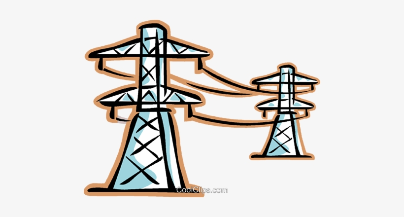 Hydro Lines Royalty Free Vector Clip Art Illustration.