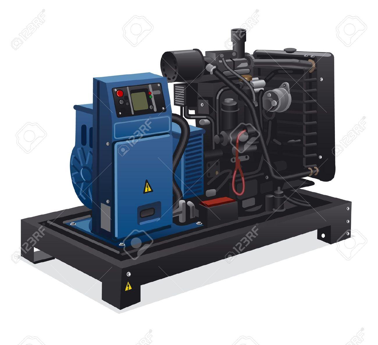 Industrial Diesel Power Generator Royalty Free Cliparts, Vectors.