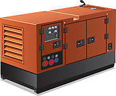 Clip Art of industrial power generator k13838959.