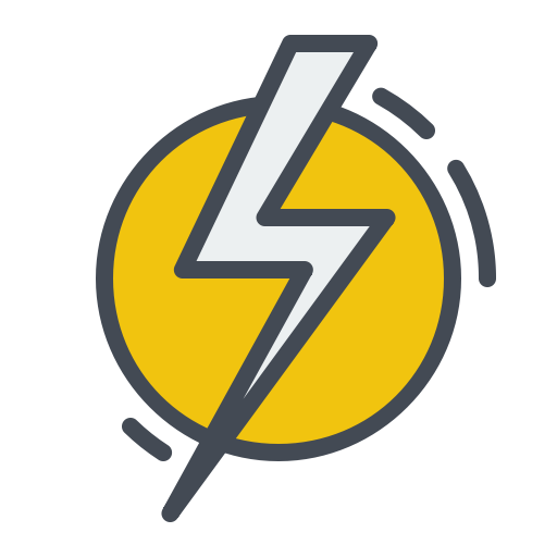 Electric, electricity, energy, power, sign, thunder icon.