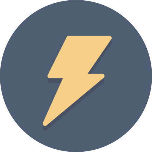 Bolt, electricity icon.