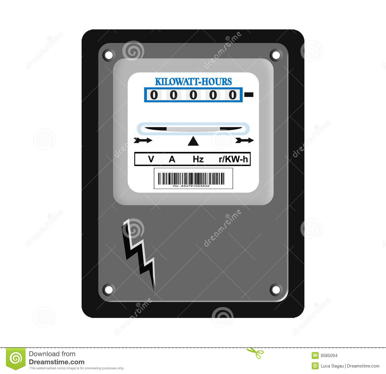 Electric Meter Stock Images.