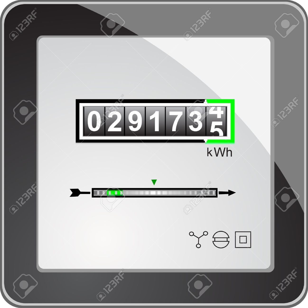Power Meter Clip Art : Electricity meter clipart clipground