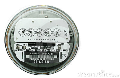 Electric Meter Box Stock Images.