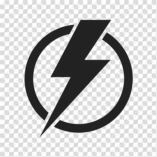 Black The Flash logo, Electricity Iconfinder Electrical energy Icon.