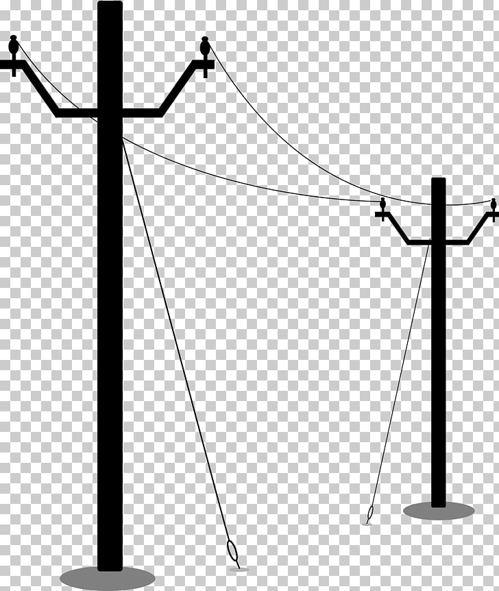 Utility pole Electricity Overhead power line , electric PNG.