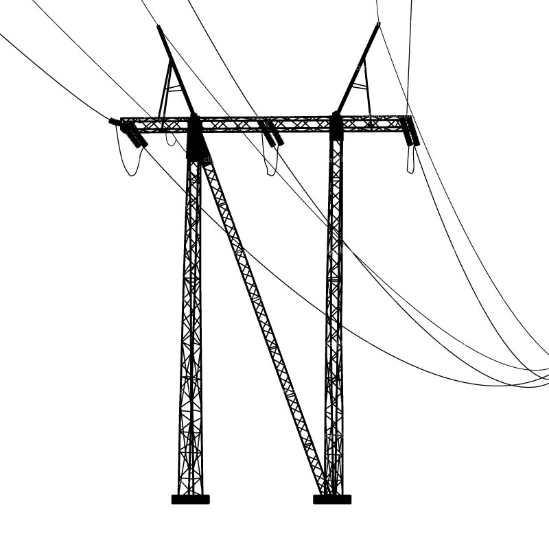 Clip Art Electric Pole Clipart.