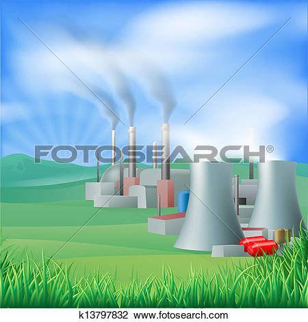 Clipart of Electricity power generation illustration k1909603.