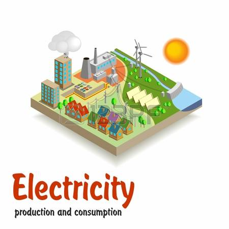 6,166 Electricity Production Stock Illustrations, Cliparts And.