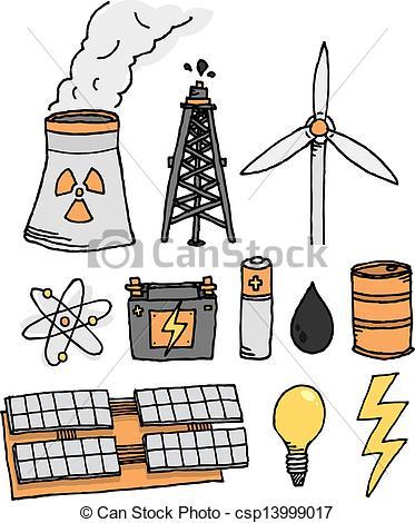 Vector Clip Art of Energy vector icon set / Alternative power.