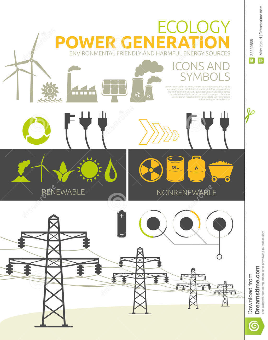 Power Generation Concept Designs Royalty Free Stock Photo.