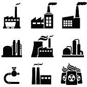 Clipart of Power and electricity industry icon k5495952.