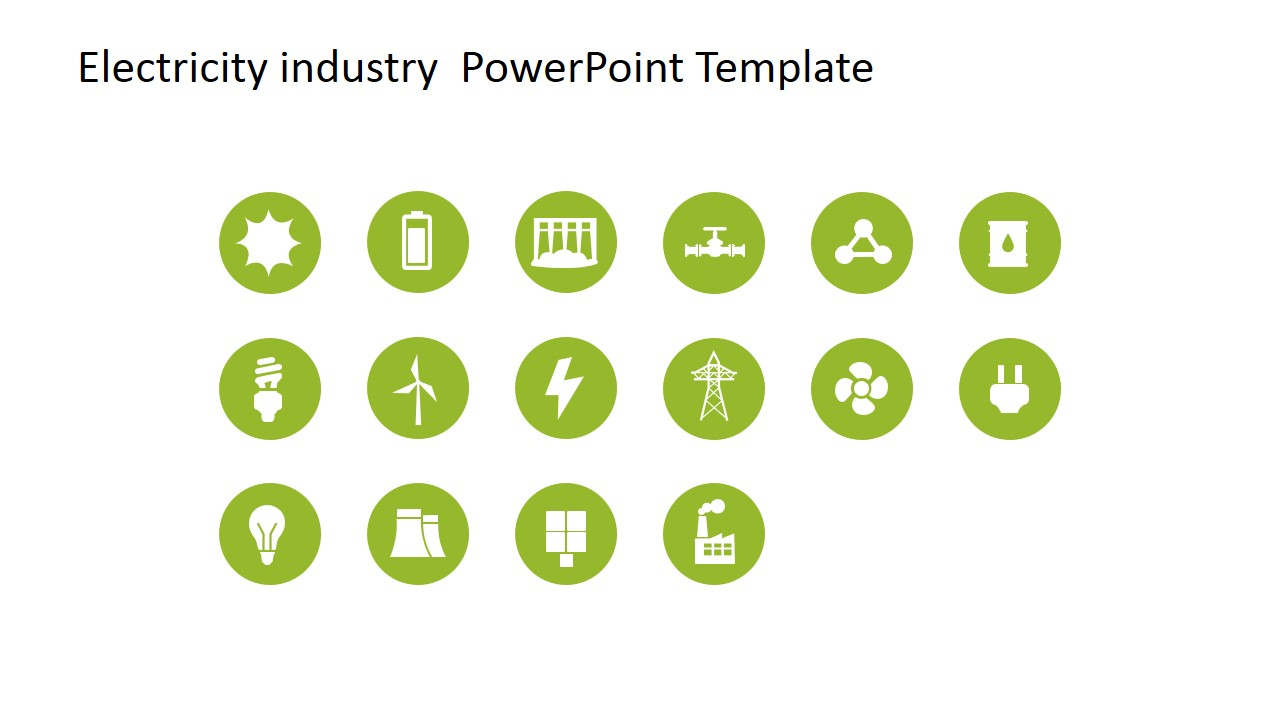 Electricity Industry PowerPoint Template.