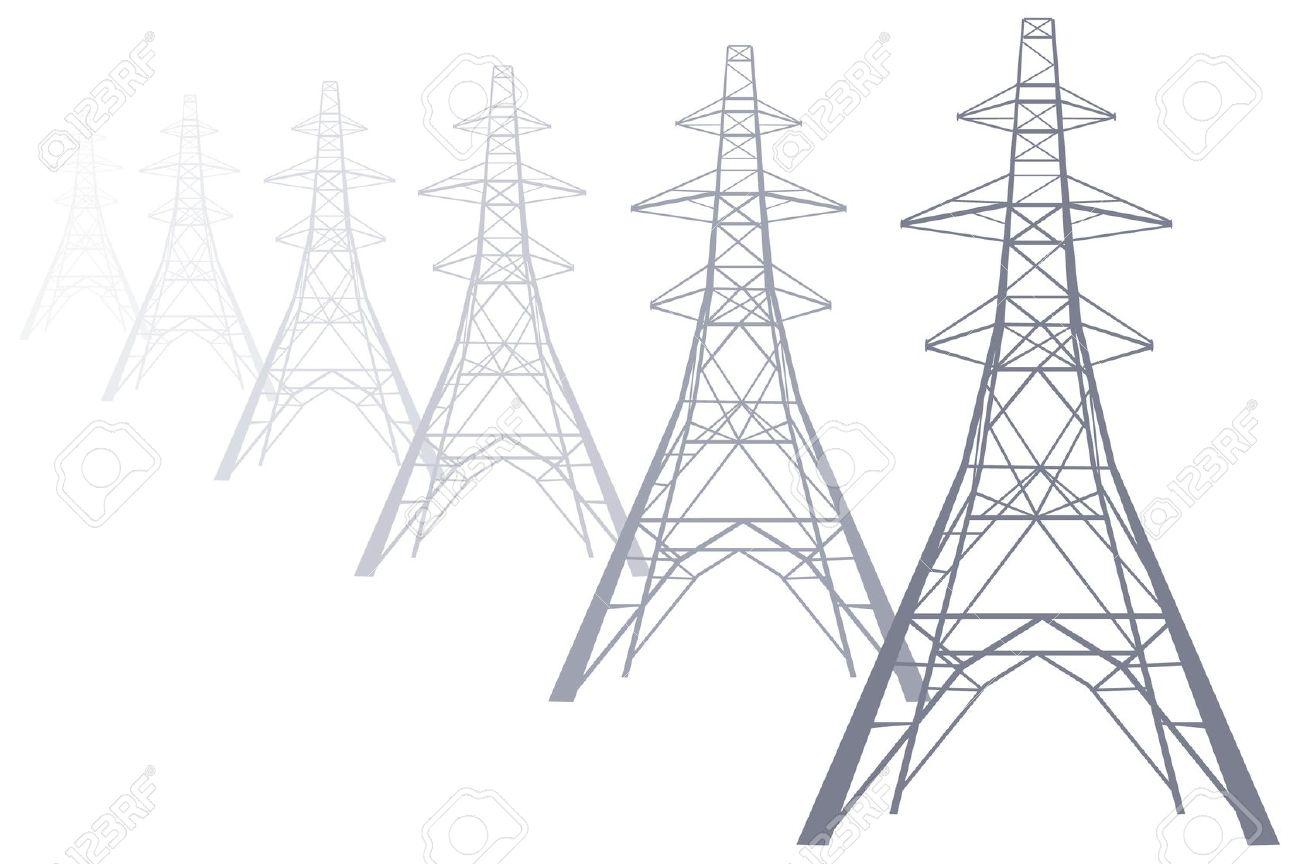 Electricity pylon clipart.