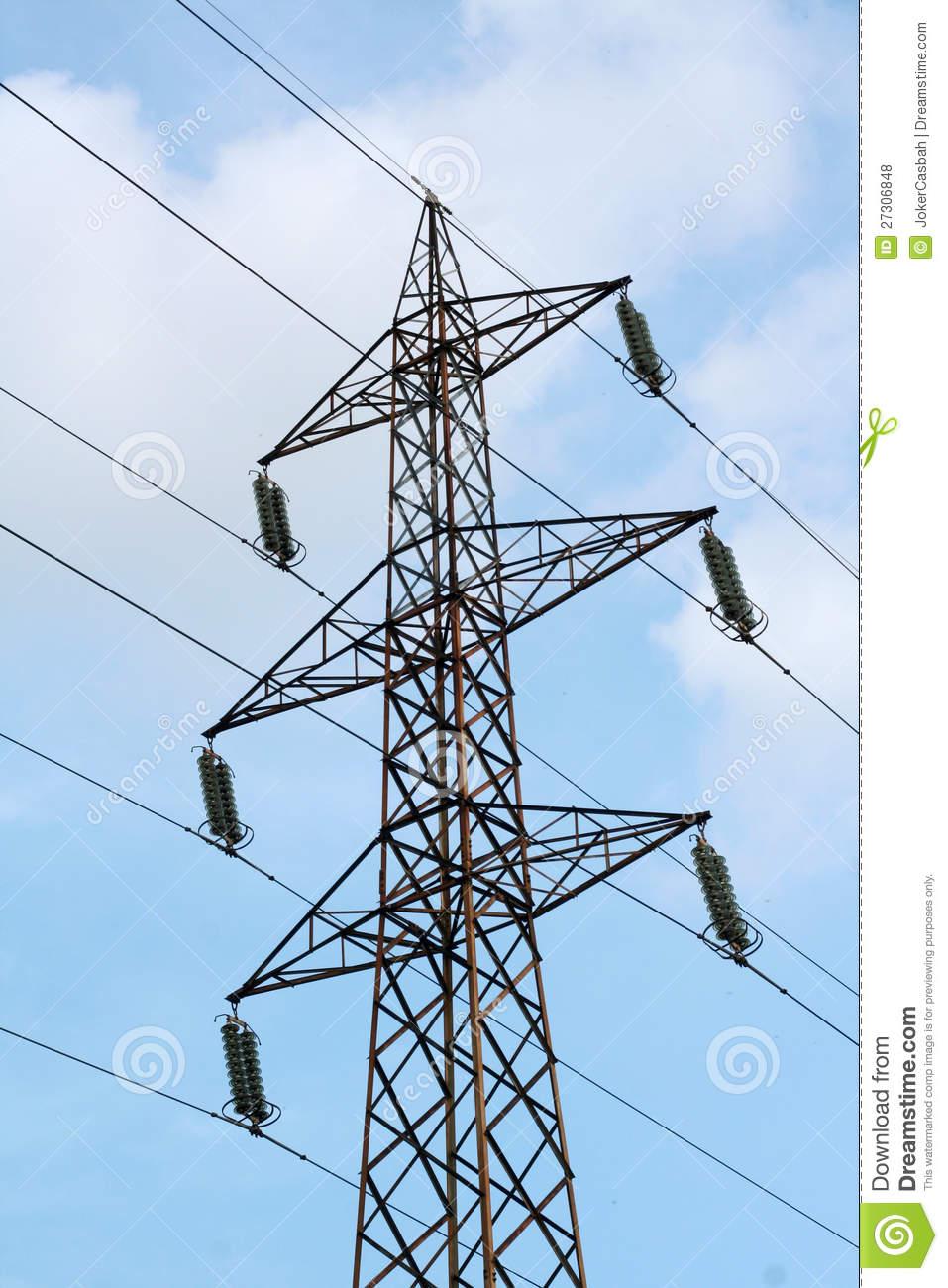 Electricity Pole Royalty Free Stock Photos.