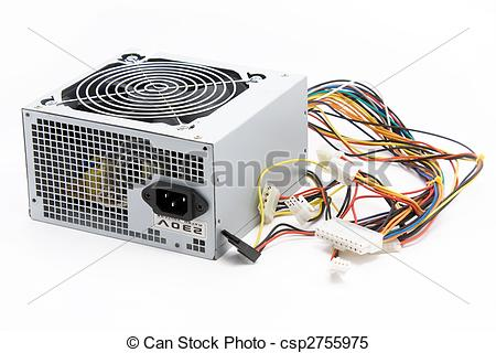 Stock Images of Computer power supply.