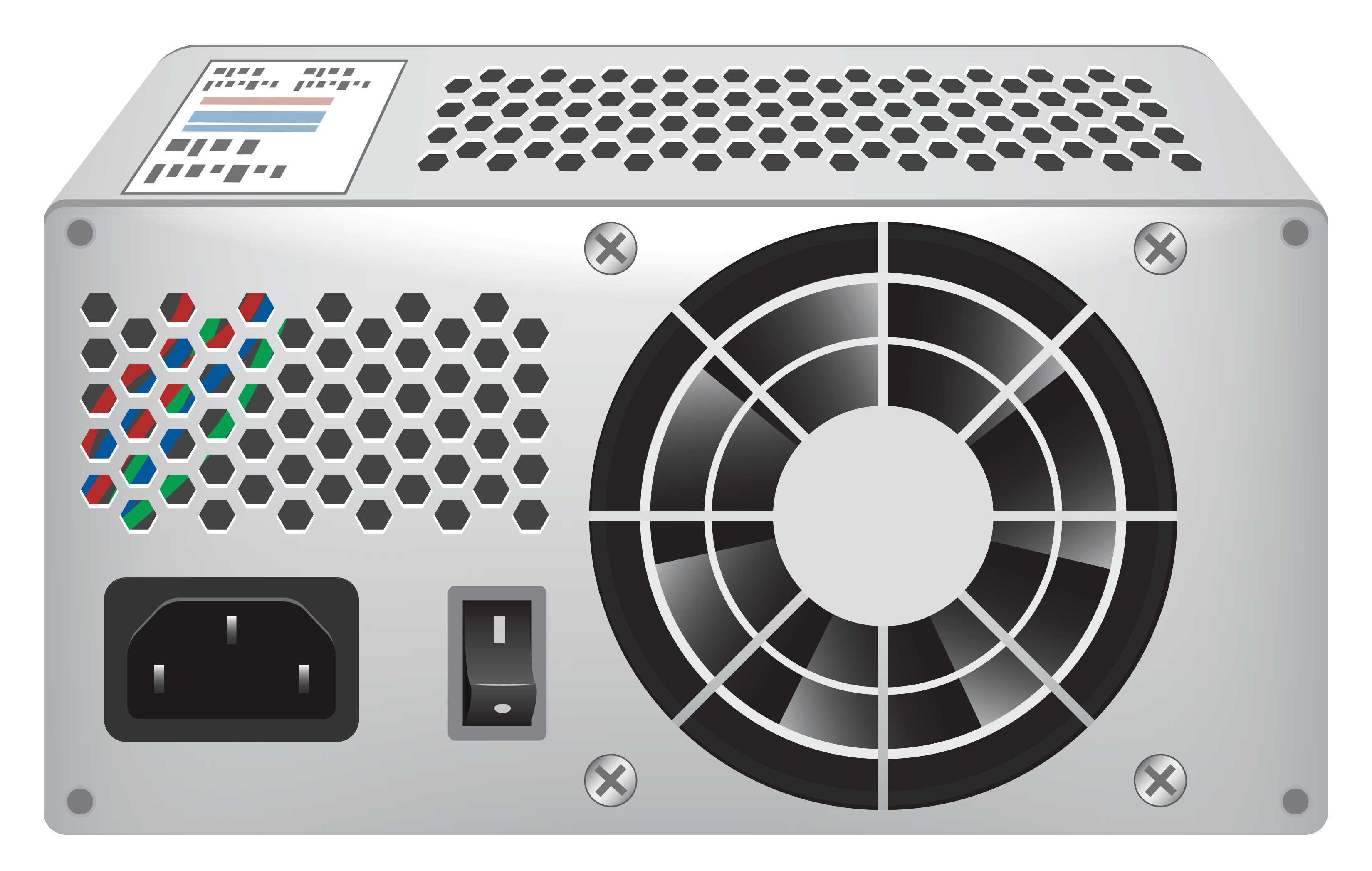 Standard Computer Power Supply PNG Clipart.