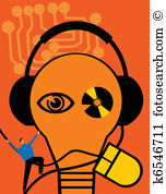 Electro acoustic transducer Illustrations and Clip Art. 3 electro.