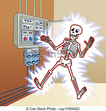 Electric shock clipart.