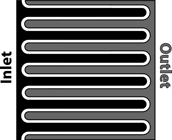 Interdigitated Fuel Cell Electrode Clipart, vector clip art online.