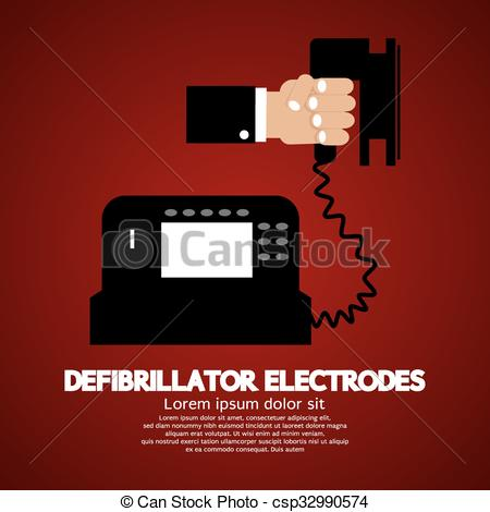 Vectors Illustration of Defibrillator Electrodes..