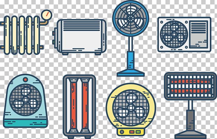 Icono de electrodomésticos de electricidad, ventilador PNG.