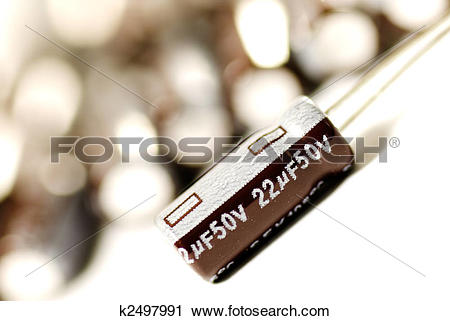 Stock Photography of Aluminum Electrolytic Capacitors k2497991.