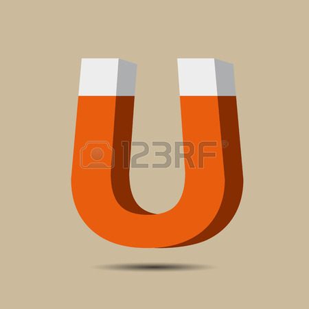 Magnet Symbol Icon. Electromagnetism Symbol Royalty Free Cliparts.