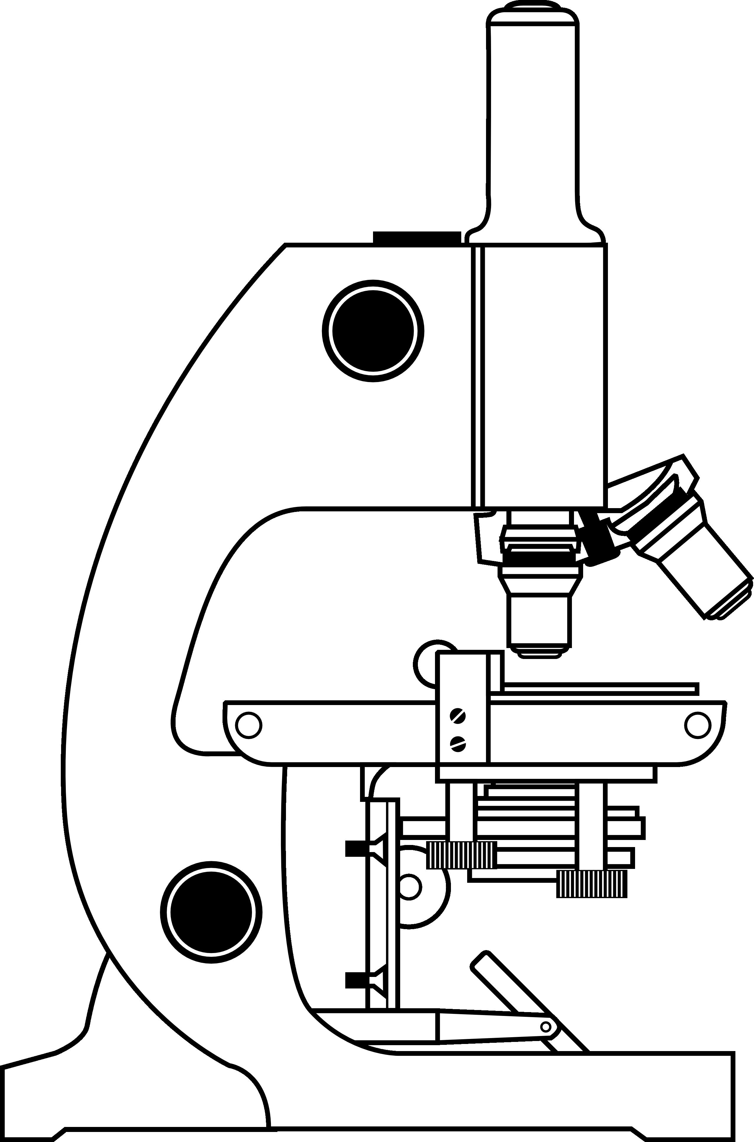 Light microscope clipart.