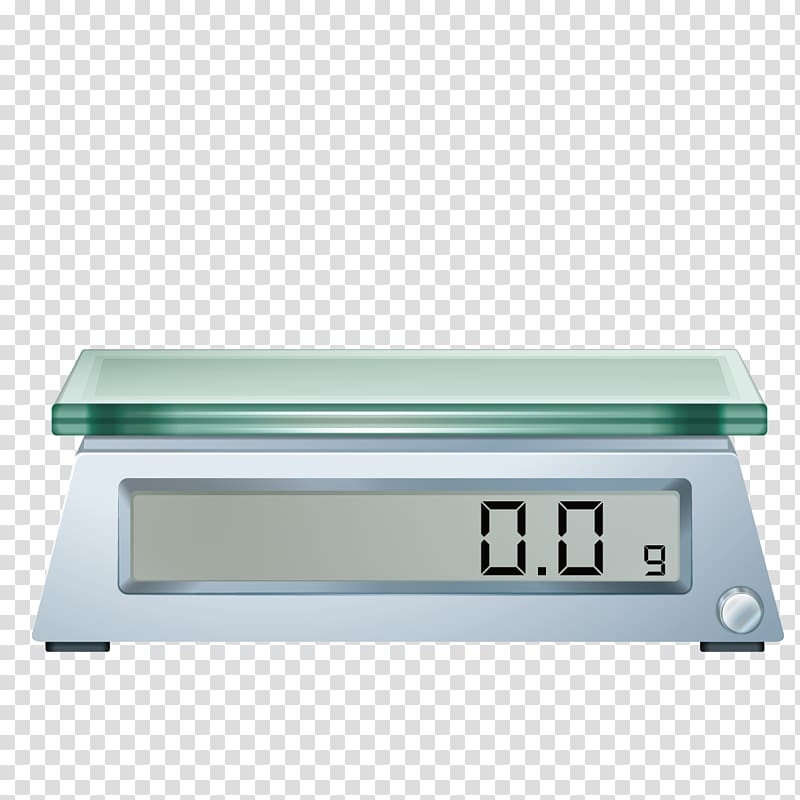 Silver digital scale illustration, Weighing scale.