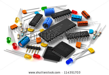 Electronic Components Stock Photos, Royalty.