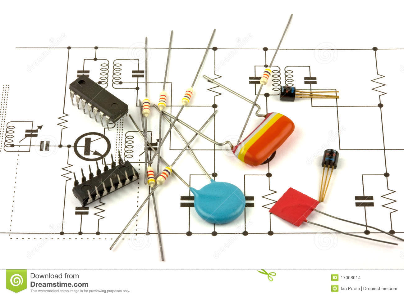 Electronics Components Stock Images.