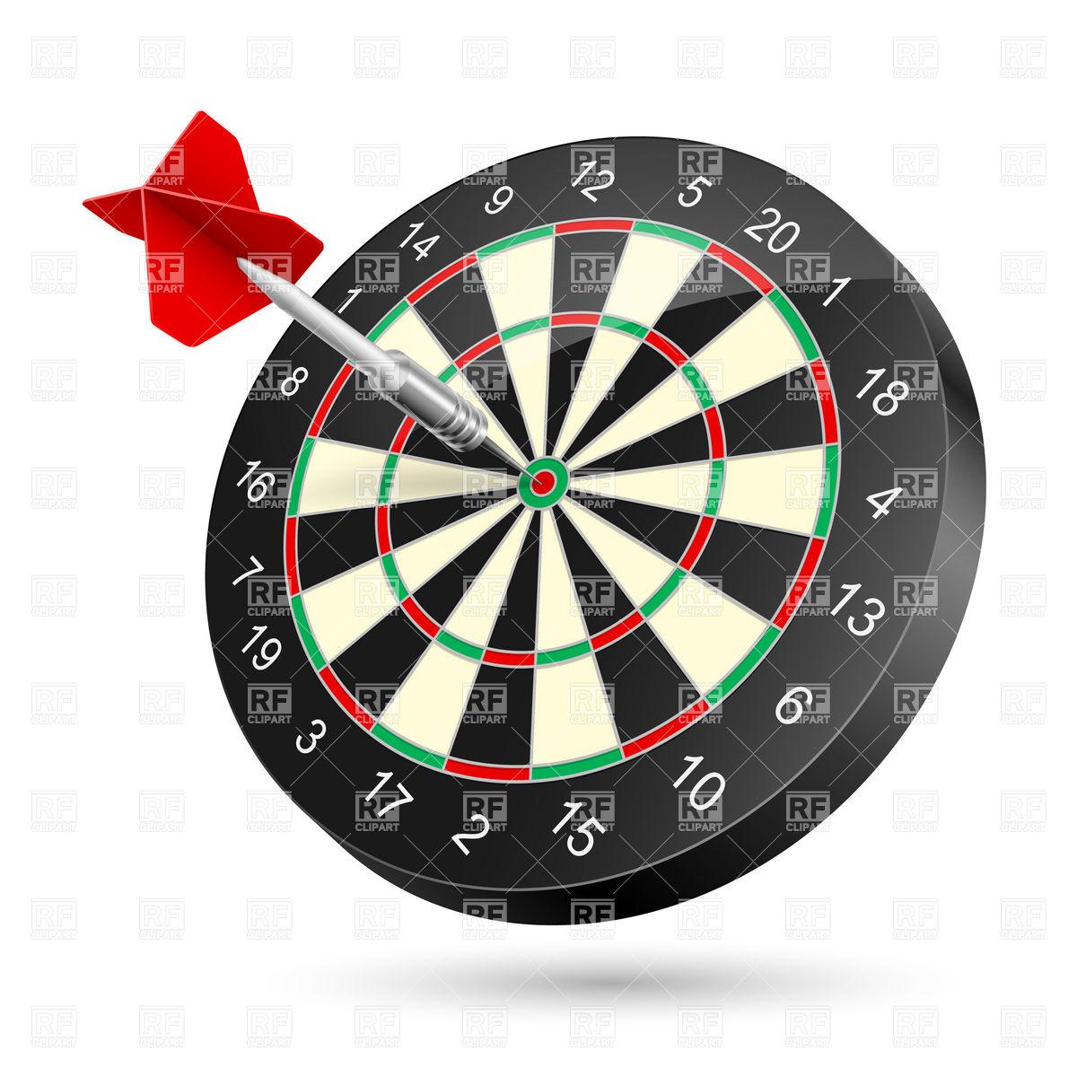 Dartboard with darts Vector Image #75614.