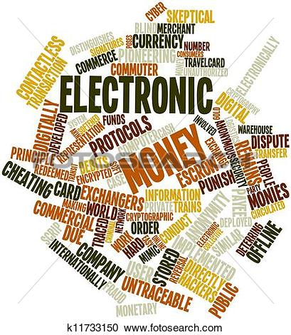 Stock Illustrations of Word cloud for Electronic money k11733150.