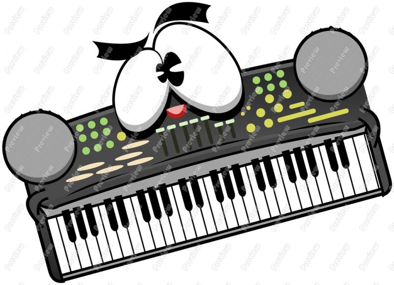 Electronic music clipart.