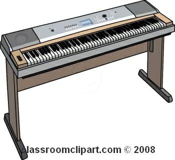 Electric Organ Clipart.