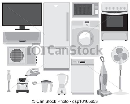 Clipart Vector of Home electronics csp10165653.