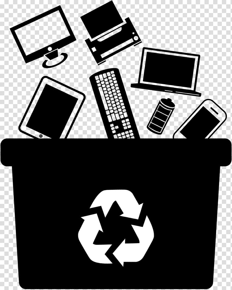 Electronic waste Computer recycling Recycling symbol, others.