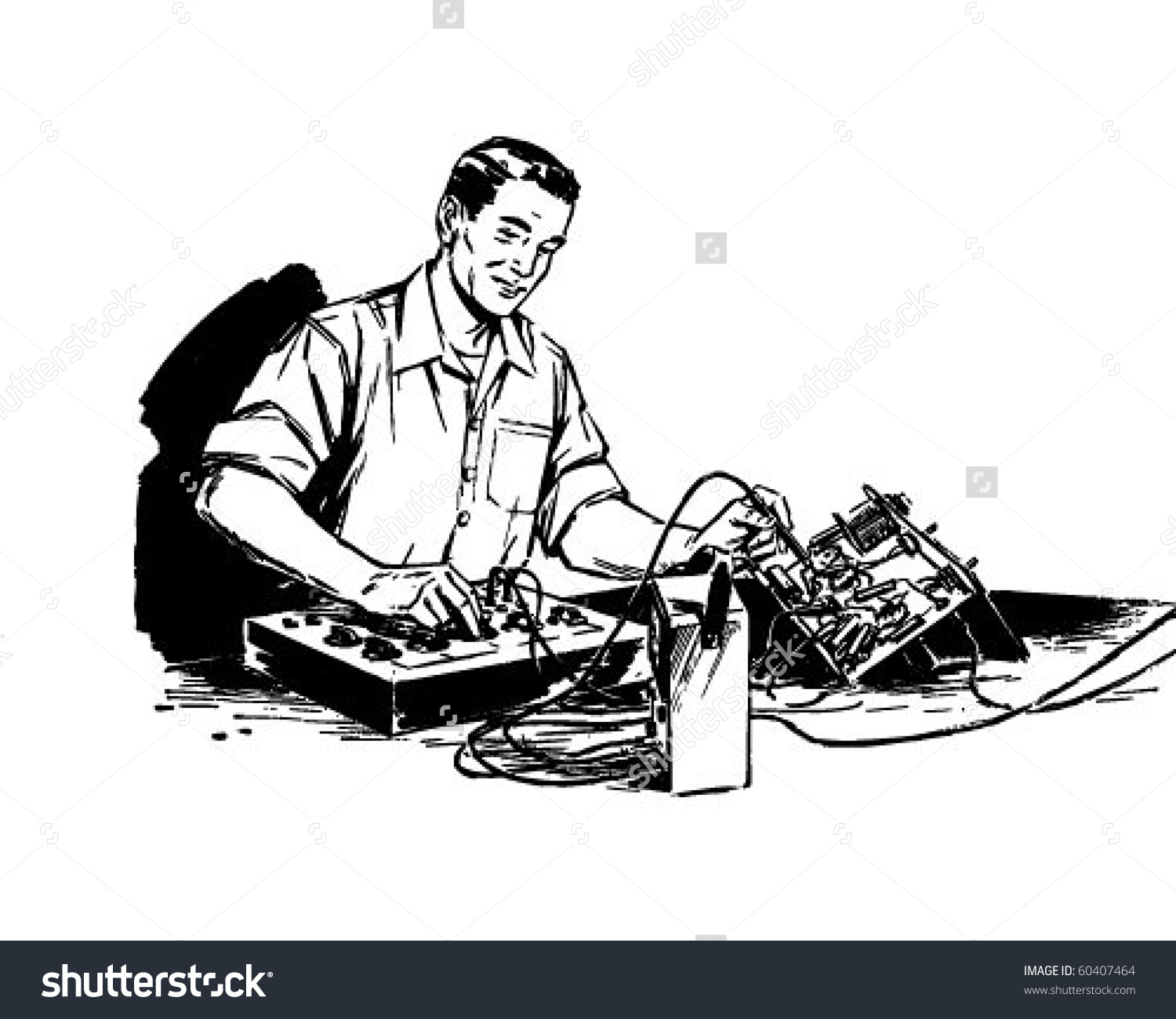 Electronics technician clipart.