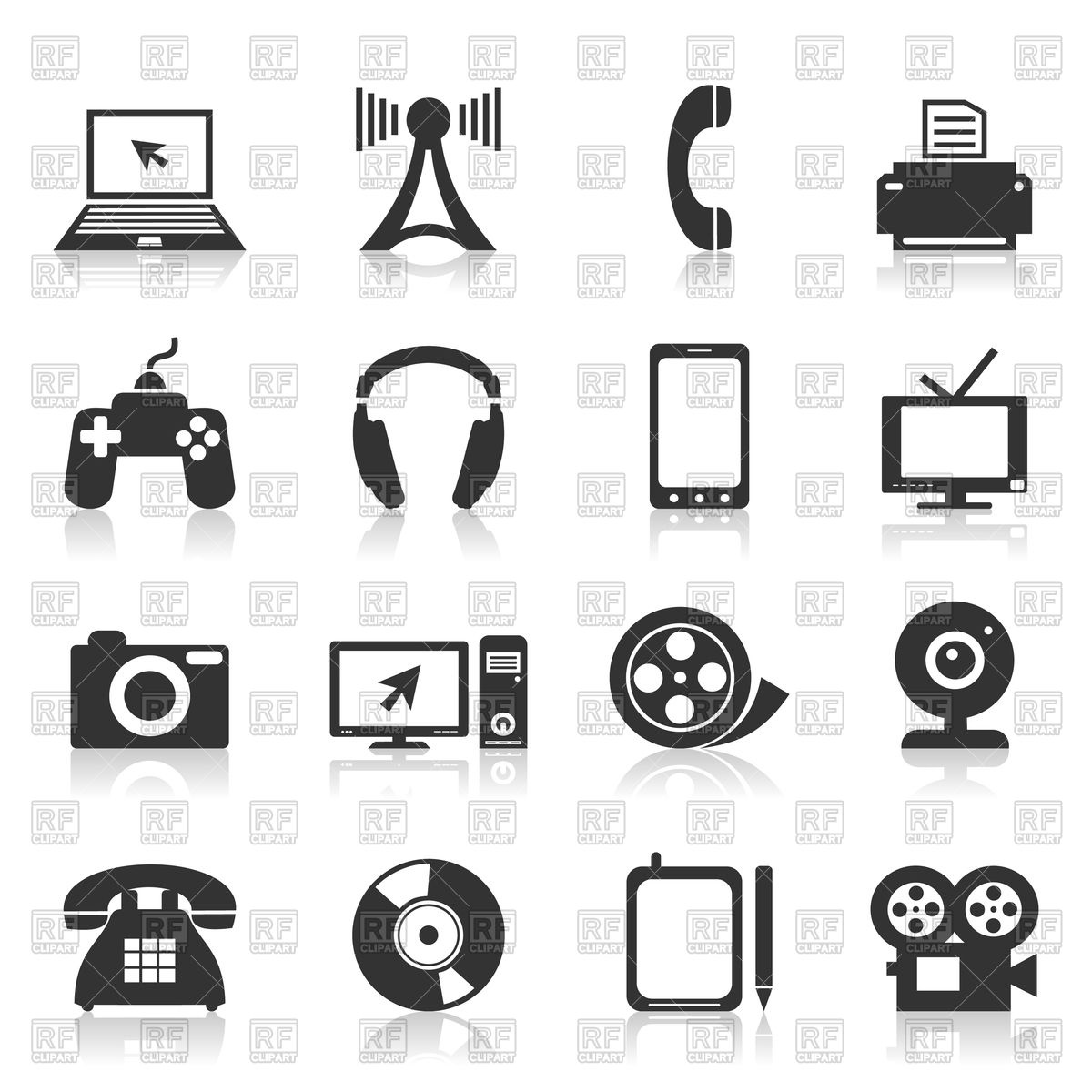 Set of electronics icons Vector Image #82703.