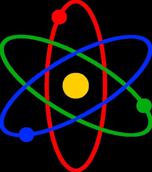 Clip art of an atom.